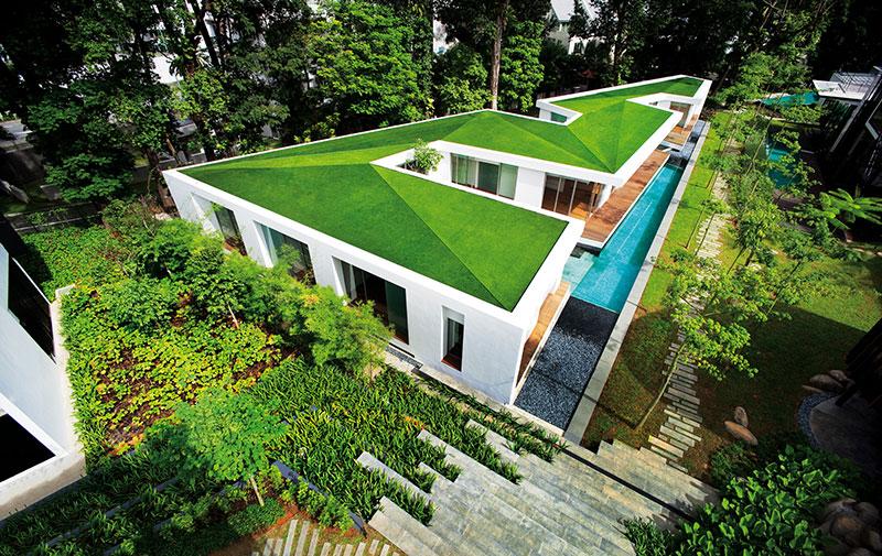 Grama Artificial Para Telhado Verde Royal Grass