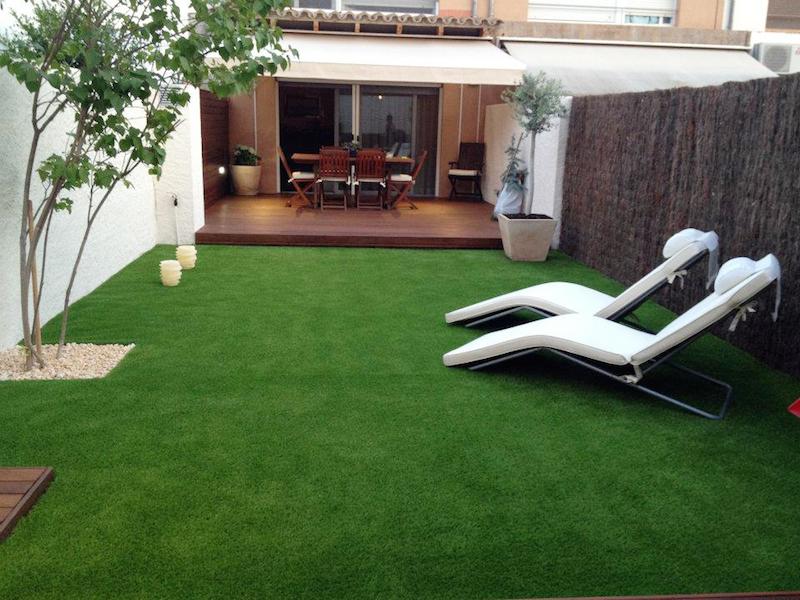 Garden With Artificial Grass~ Durabilidade Grama Sintetica Jardim